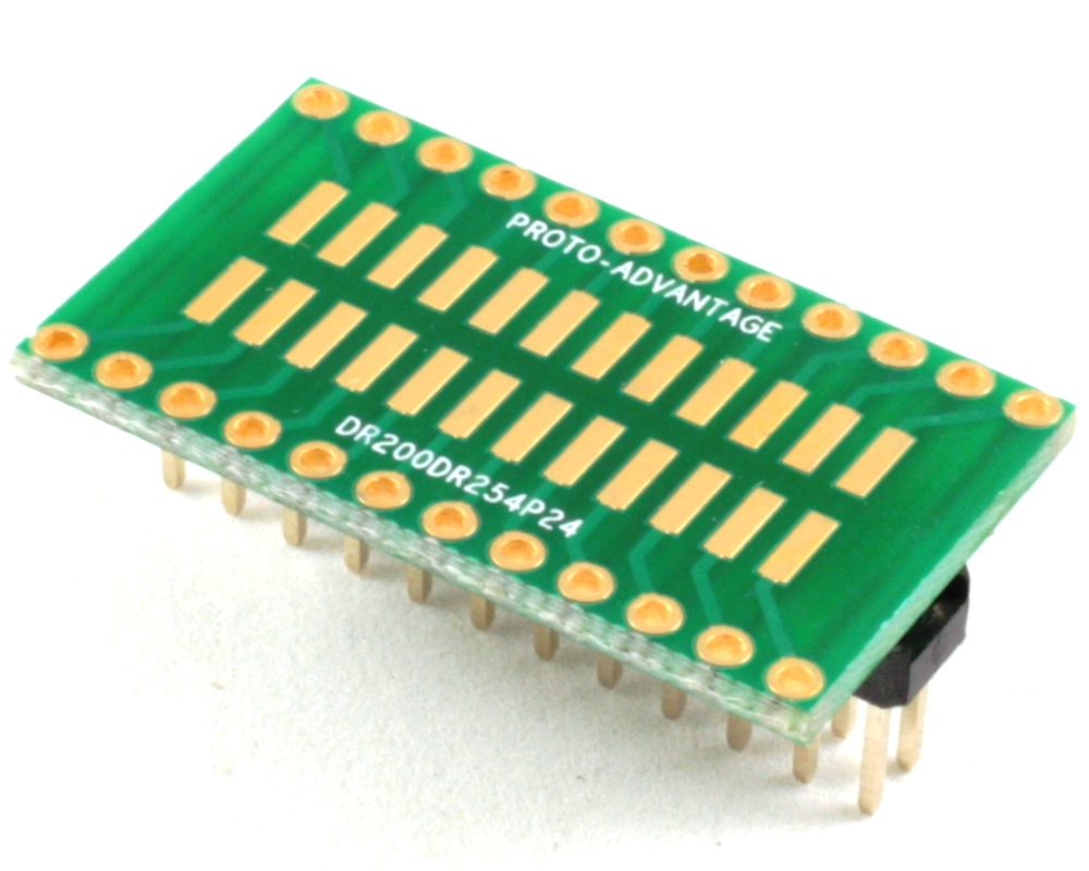 Dual Row 2.00mm Pitch 24-Pin to Dual Row 2.54mm Pitch Adapter 0