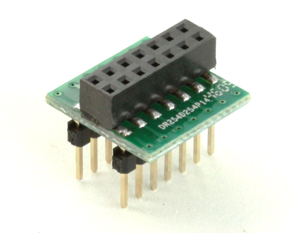 Dual Row 2.54mm Pitch 14-Pin Female Header to DIP-14 Adapter 0