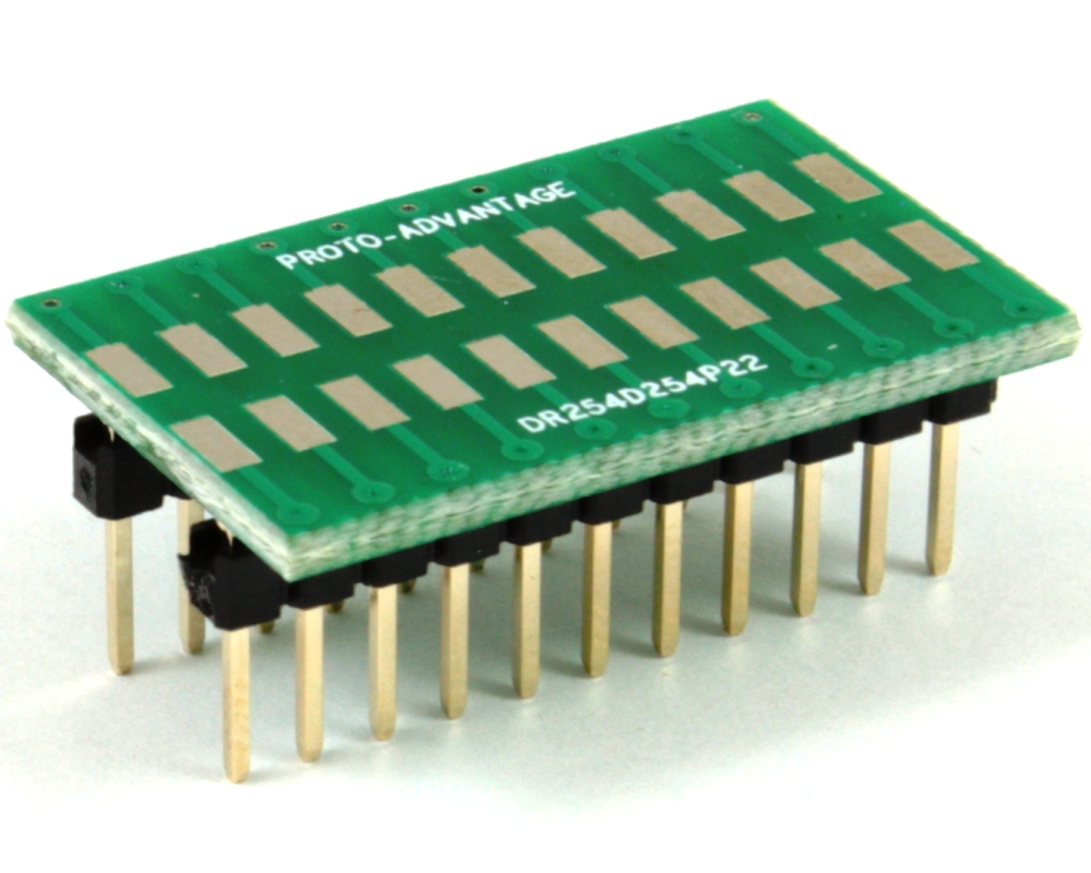 Dual Row 2.54mm Pitch 22-Pin to DIP-22 Adapter 0