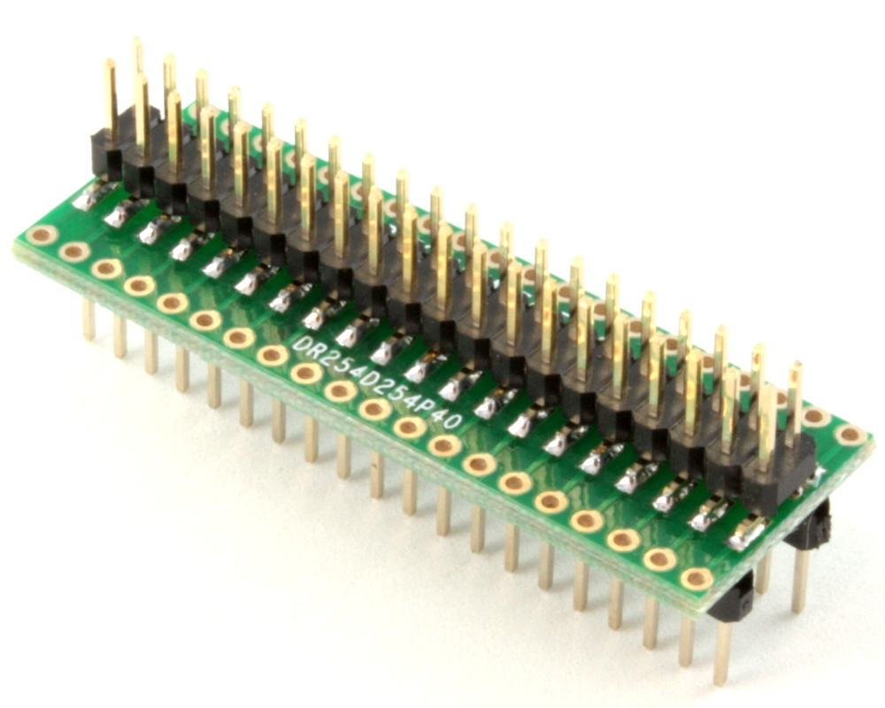 Dual Row 2.54mm Pitch 40-Pin Male Header to DIP-40 Adapter 0