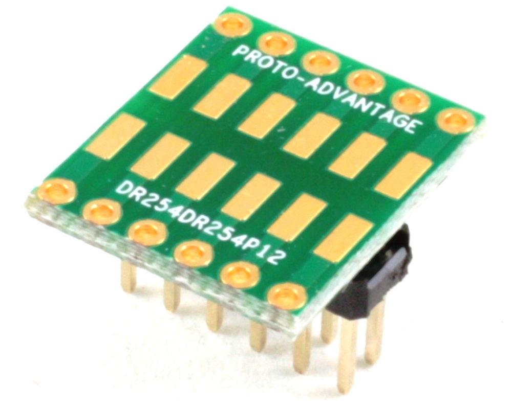 Dual Row 2.54mm Pitch 12-Pin to Dual Row 2.54mm Pitch Adapter 0