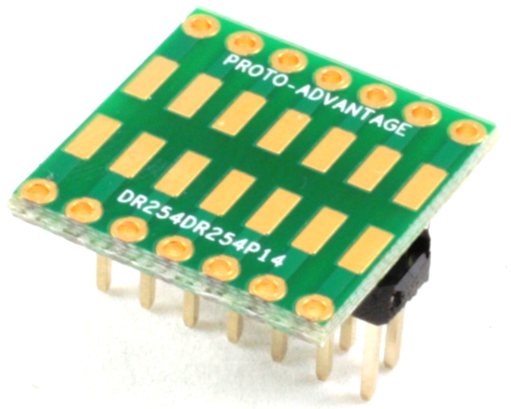 Dual Row 2.54mm Pitch 14-Pin to Dual Row 2.54mm Pitch Adapter 0