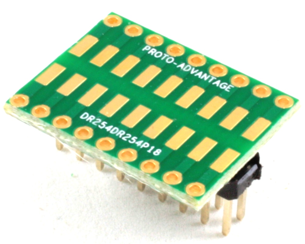 Dual Row 2.54mm Pitch 18-Pin to Dual Row 2.54mm Pitch Adapter 0
