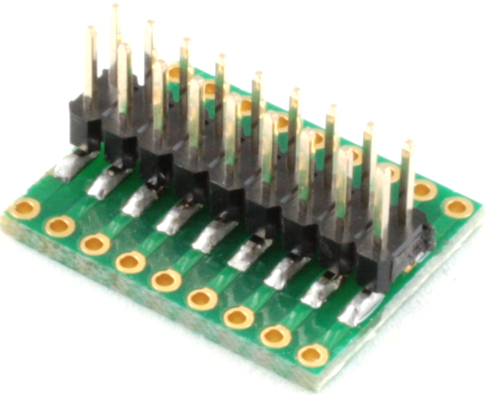 Dual Row 2.54mm Pitch 18-Pin to Dual Row 2.54mm Pitch Adapter 1