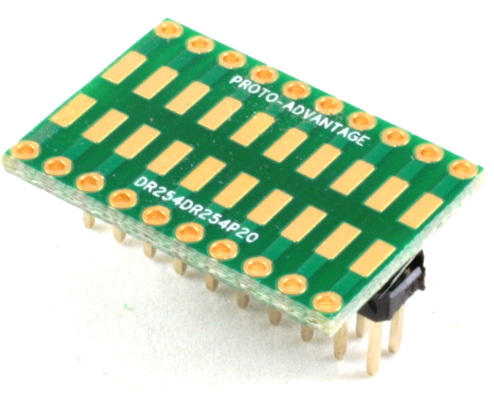 Dual Row 2.54mm Pitch 20-Pin to Dual Row 2.54mm Pitch Adapter 0