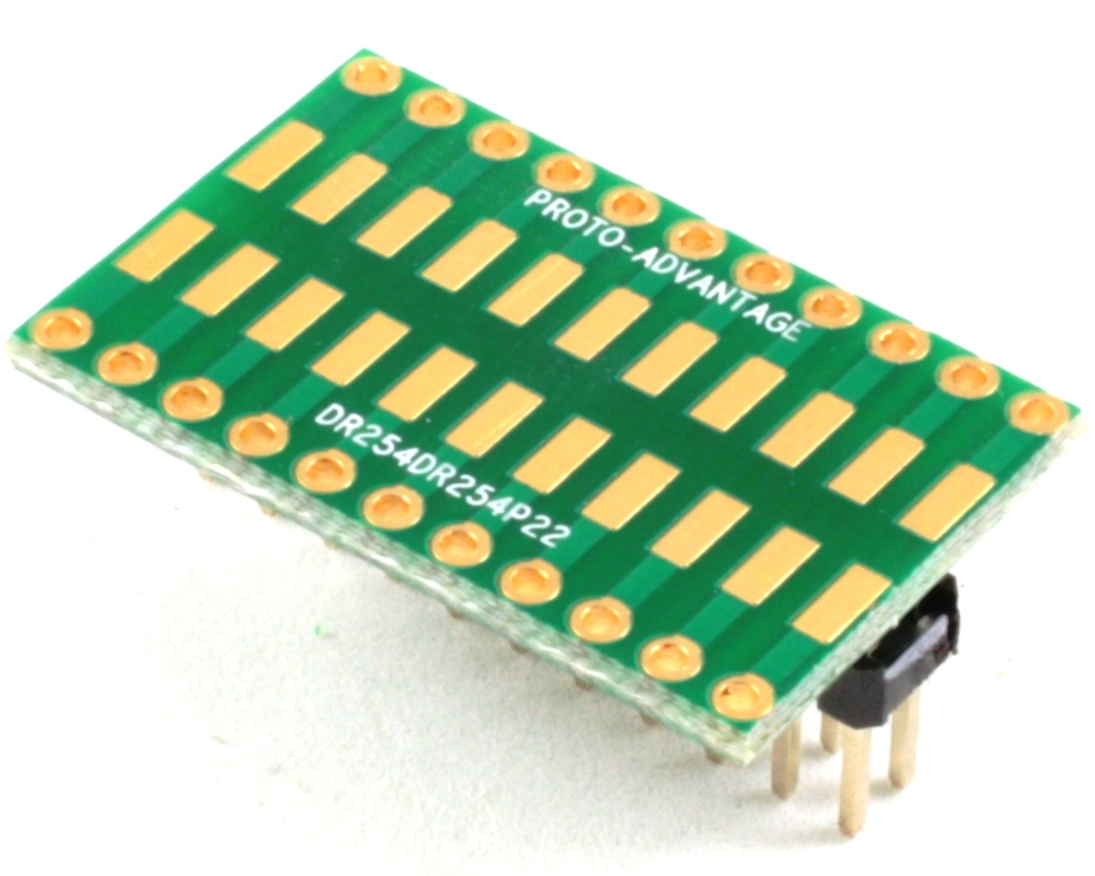 Dual Row 2.54mm Pitch 22-Pin to Dual Row 2.54mm Pitch Adapter 0