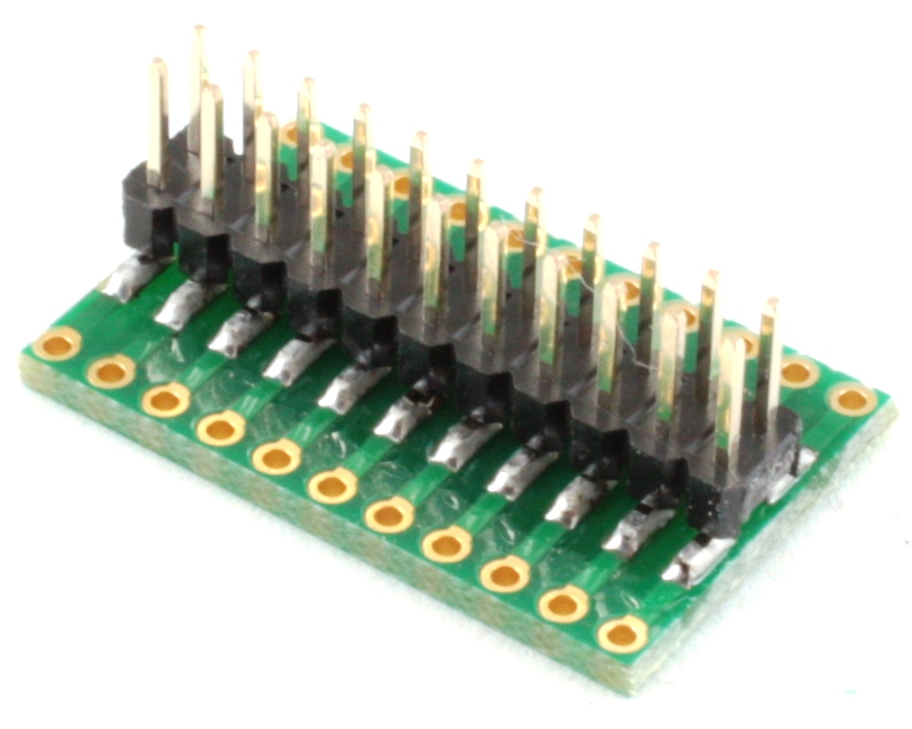 Dual Row 2.54mm Pitch 22-Pin to Dual Row 2.54mm Pitch Adapter 1
