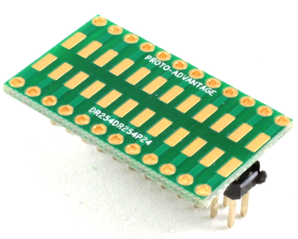 Dual Row 2.54mm Pitch 24-Pin to Dual Row 2.54mm Pitch Adapter 0