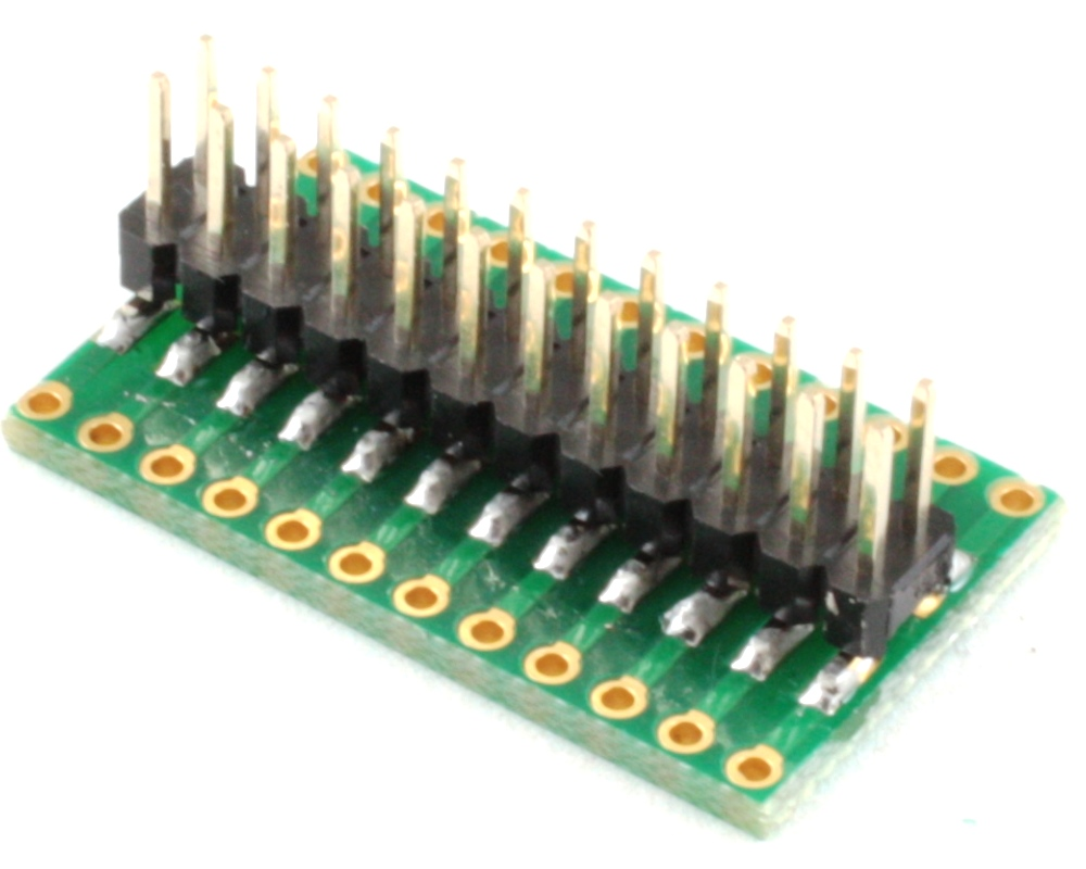 Dual Row 2.54mm Pitch 24-Pin to Dual Row 2.54mm Pitch Adapter 1