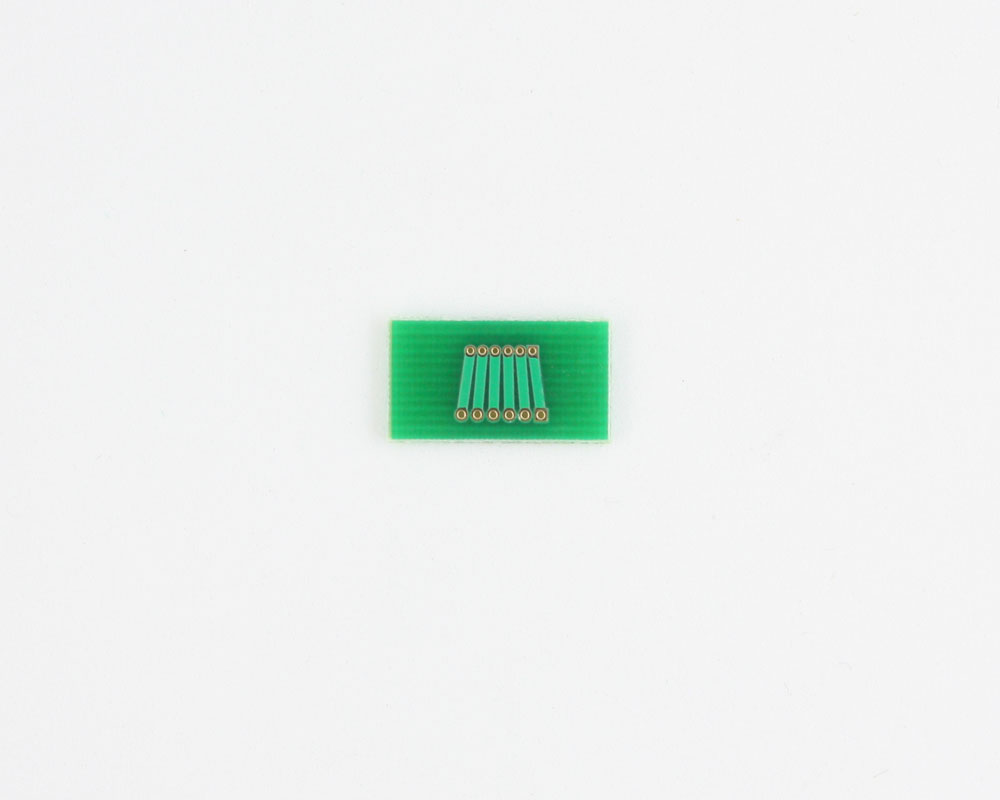 Pitch Changer 1.00 mm to 1.27 mm conversion -  6 pin 1