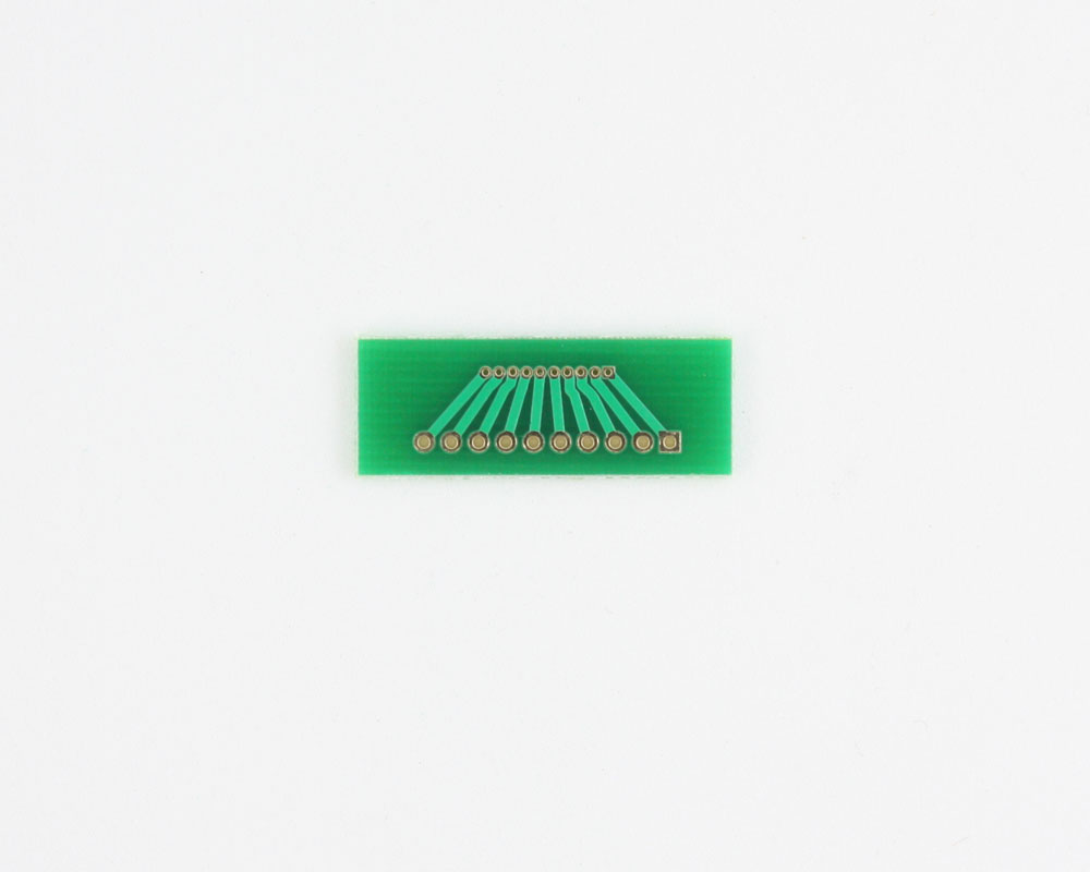 Pitch Changer 1.00 mm to 2.00 mm conversion - 10 pin 1