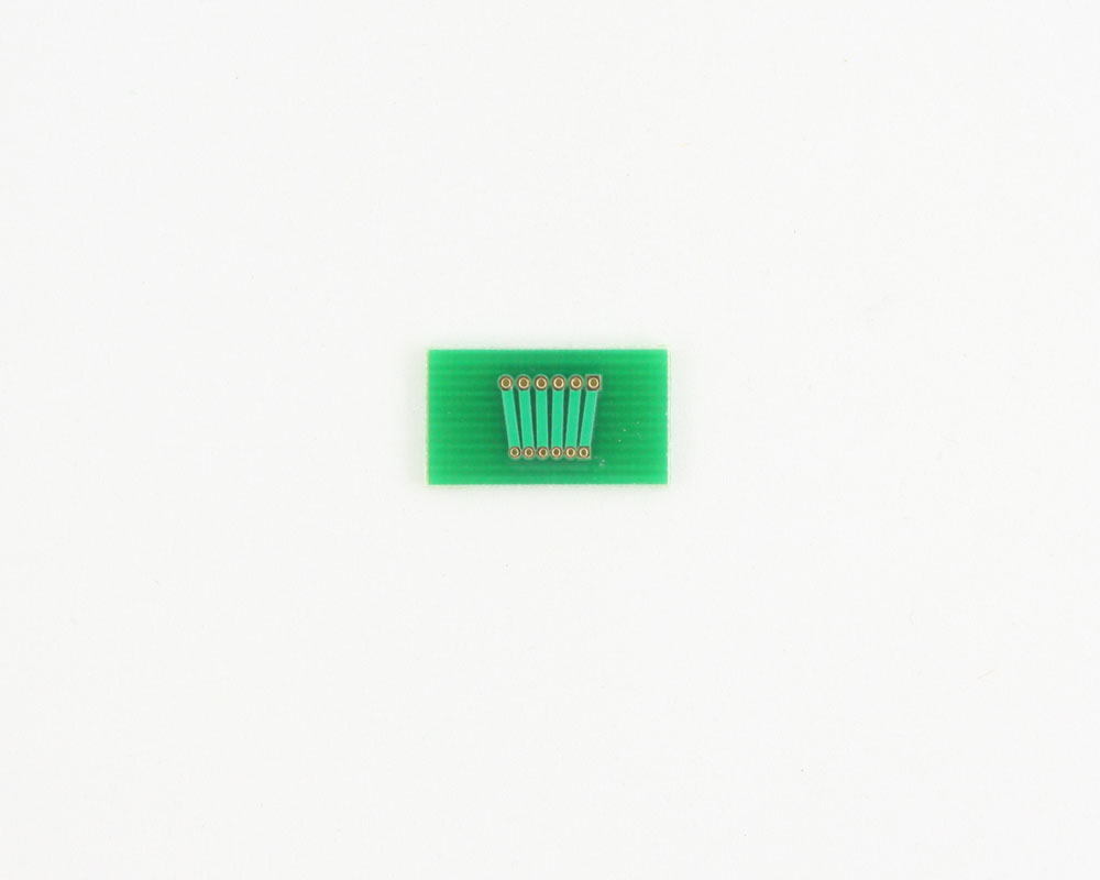 Pitch Changer 1.27 mm to 1.00 mm conversion -  6 pin 1