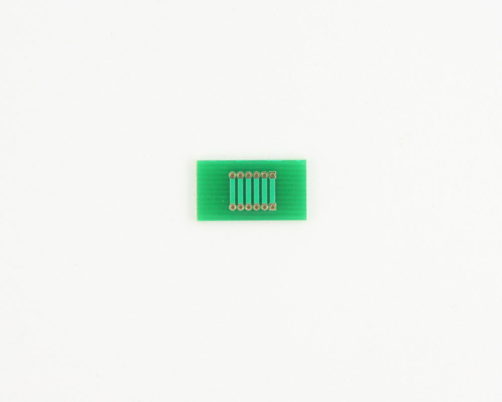 Pitch Changer 1.27 mm to 1.27 mm conversion -  6 pin 1