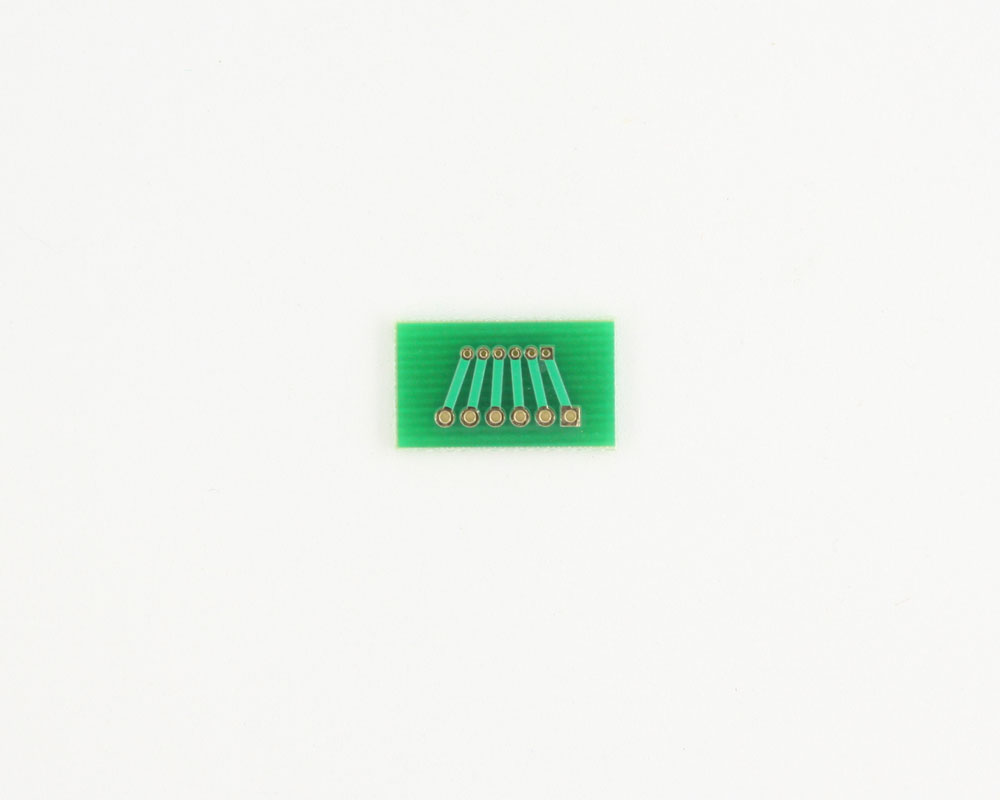 Pitch Changer 1.27 mm to 2.00 mm conversion -  6 pin 1