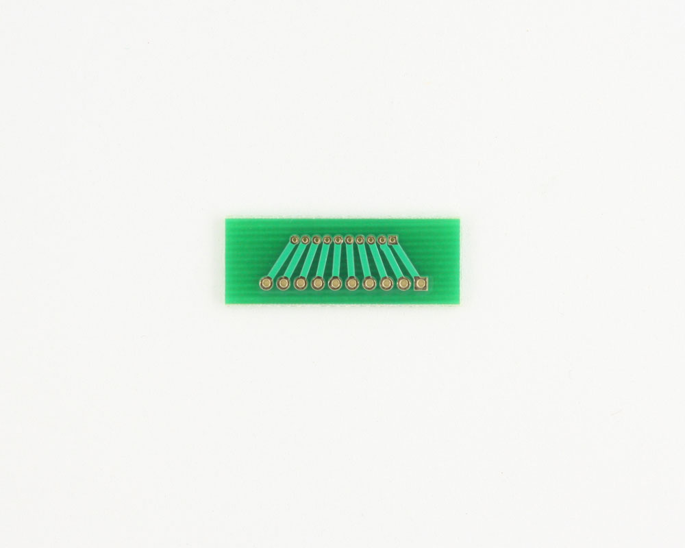 Pitch Changer 1.27 mm to 2.00 mm conversion - 10 pin 1