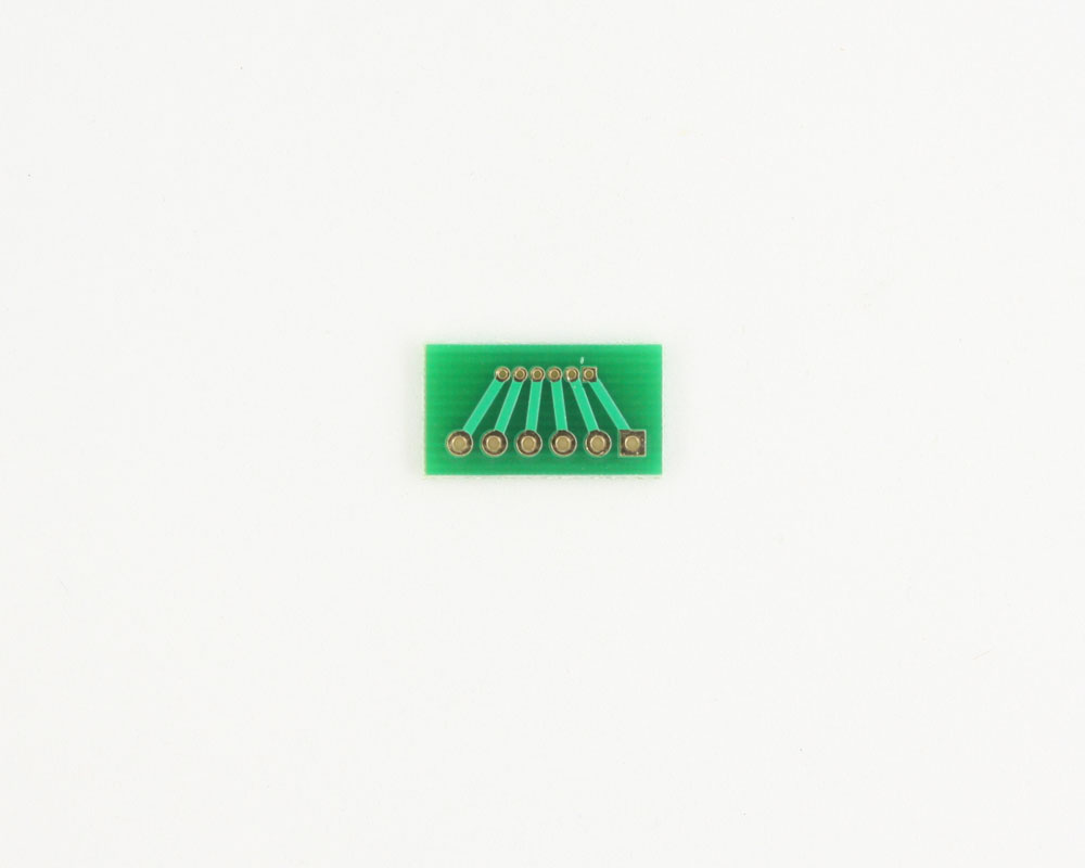 Pitch Changer 1.27 mm to 2.54 mm conversion -  6 pin 1