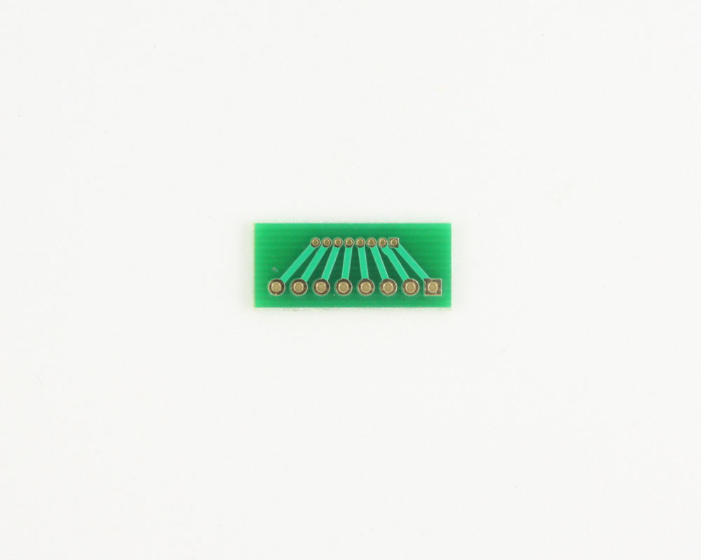 Pitch Changer 1.27 mm to 2.54 mm conversion -  8 pin 1
