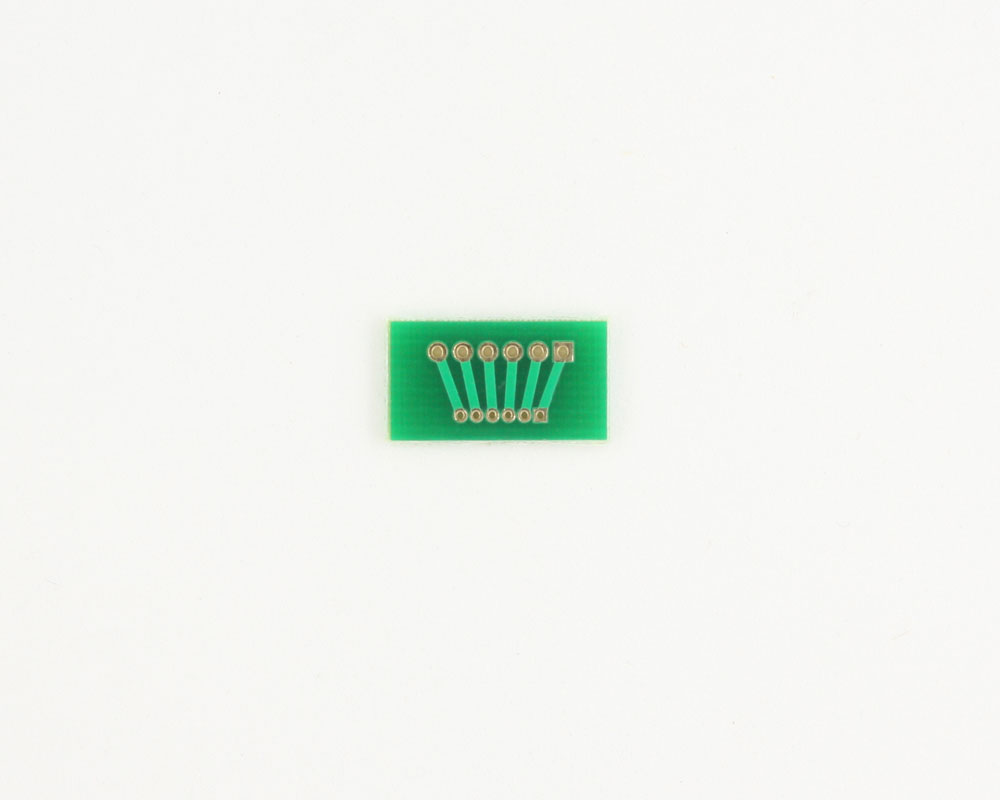 Pitch Changer 2.00 mm to 1.27 mm conversion -  6 pin 1