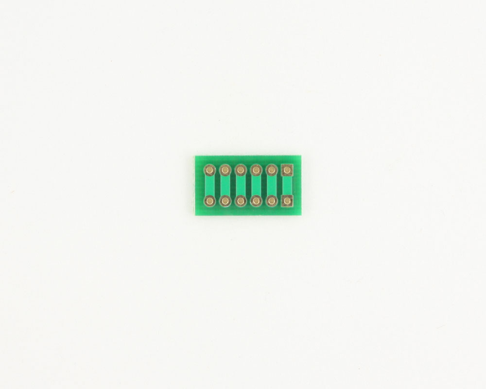 Pitch Changer 2.54 mm to 2.54 mm conversion -  6 pin 1