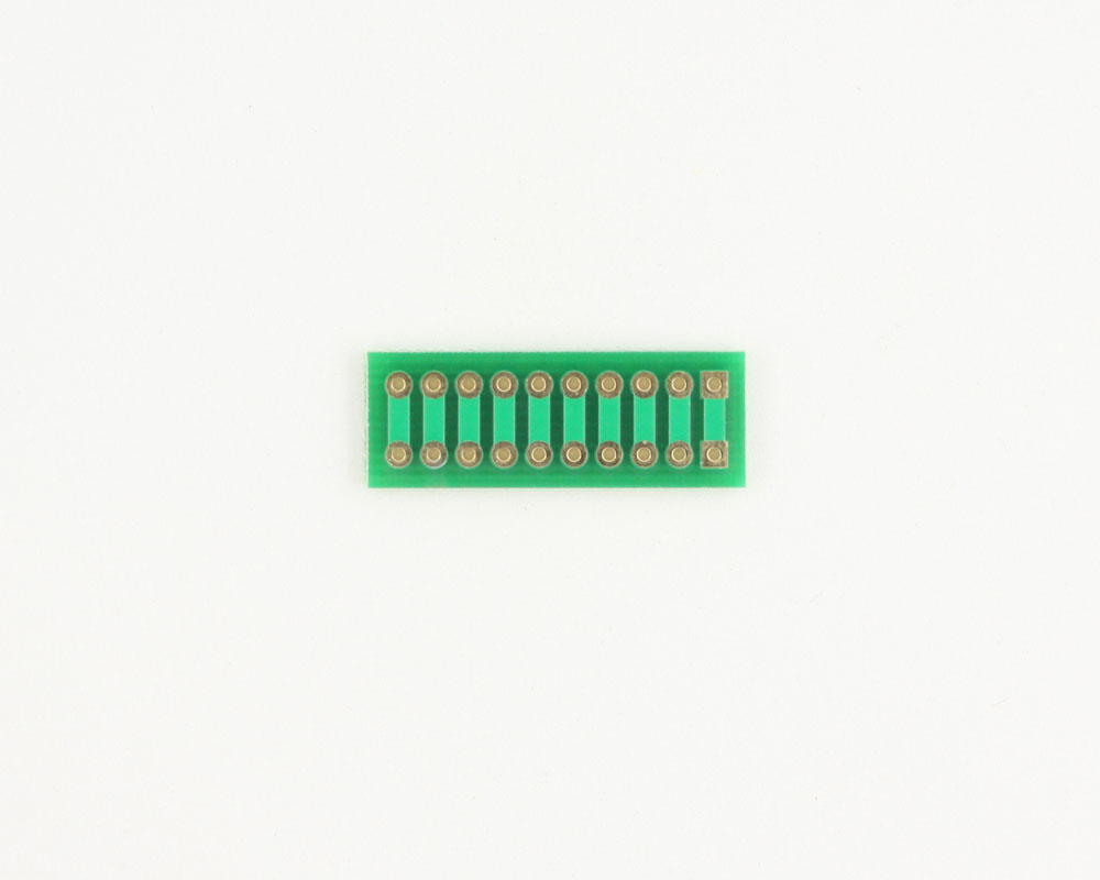 Pitch Changer 2.54 mm to 2.54 mm conversion - 10 pin 1