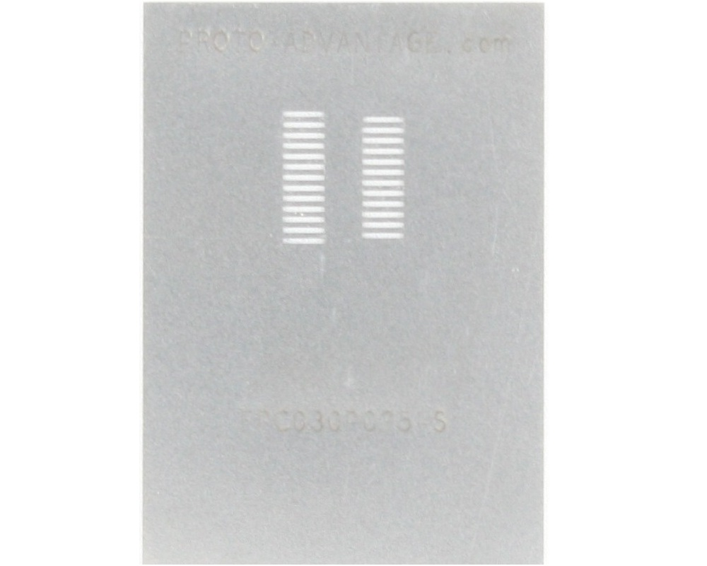 FPC/FFC SMT Connector (0.3 mm pitch, 25 pin or less) Stencil 0