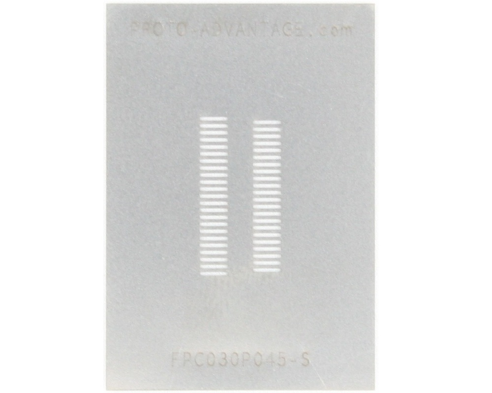 FPC/FFC SMT Connector (0.3 mm pitch, 45 pin or less) Stencil 0
