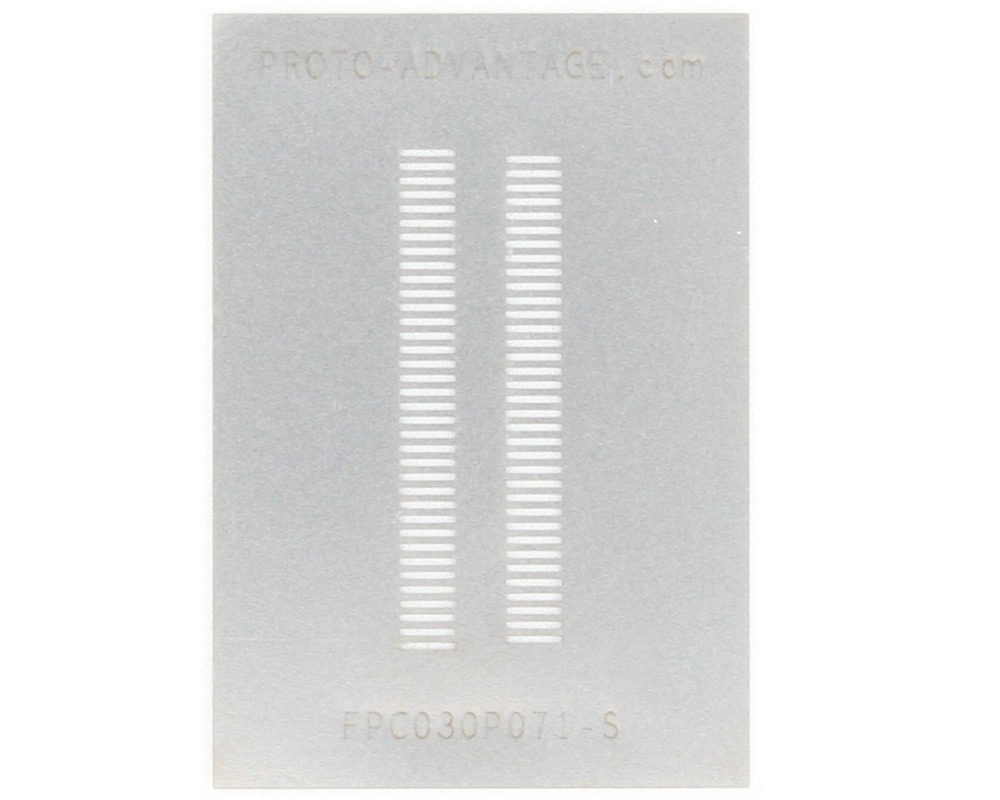FPC/FFC SMT Connector (0.3 mm pitch, 71 pin or less) Stencil 0