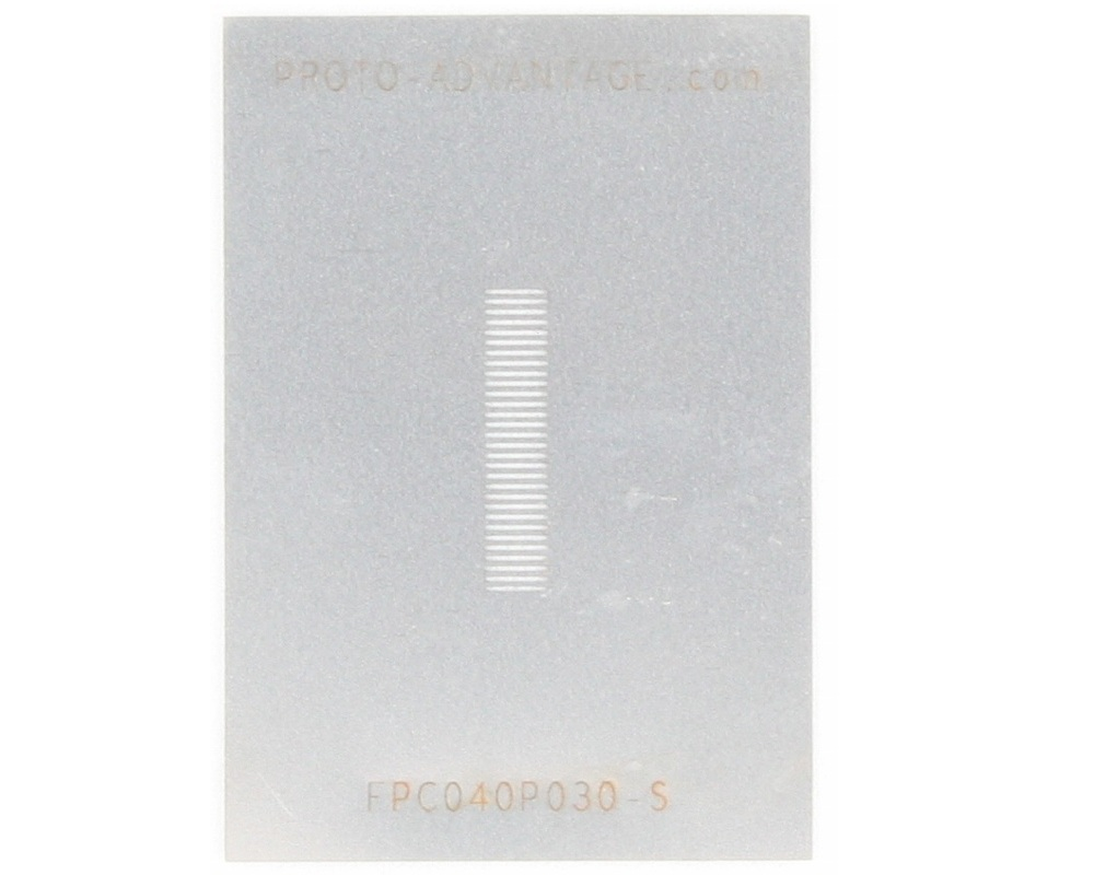 FPC/FFC SMT Connector (0.4 mm pitch, 30 pin or less) Stencil 0