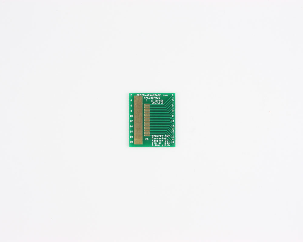 FPC/FFC SMT Connector (0.8 mm pitch, 20 pin or less) DIP Adapter 0