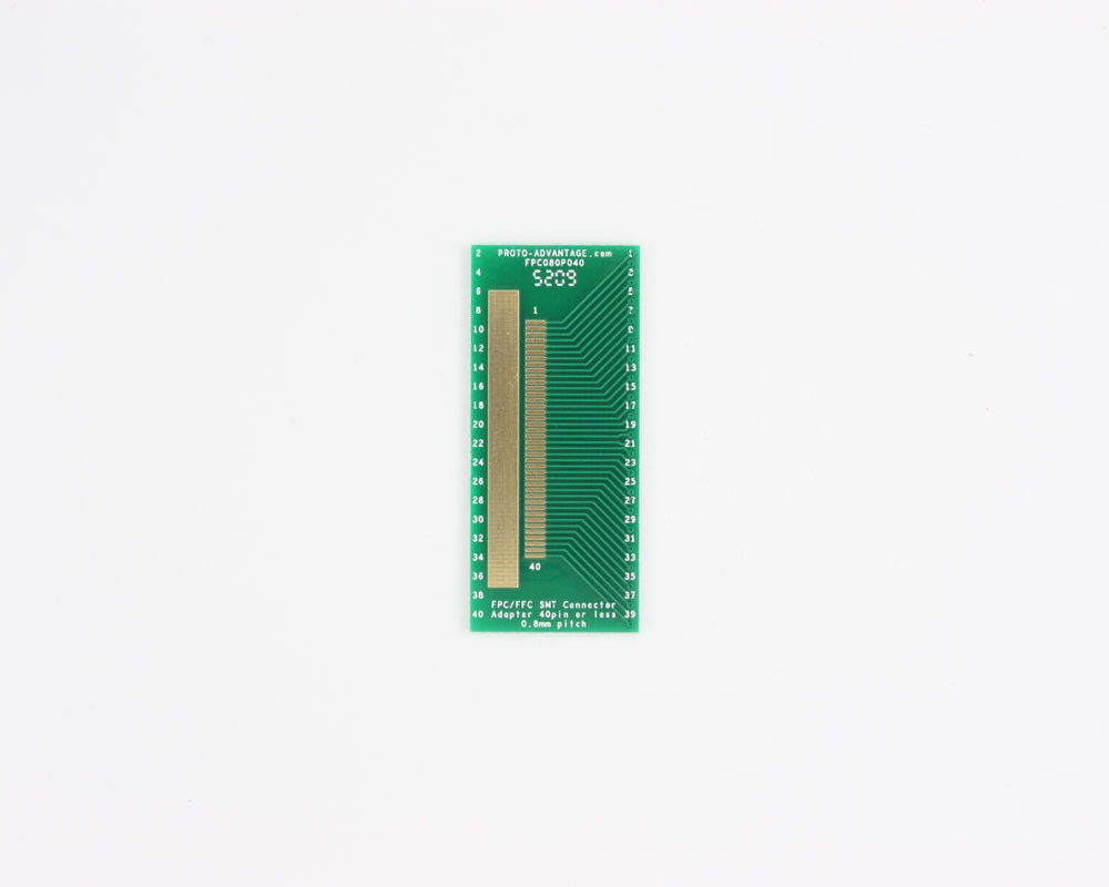 FPC/FFC SMT Connector (0.8 mm pitch, 40 pin or less) DIP Adapter 0