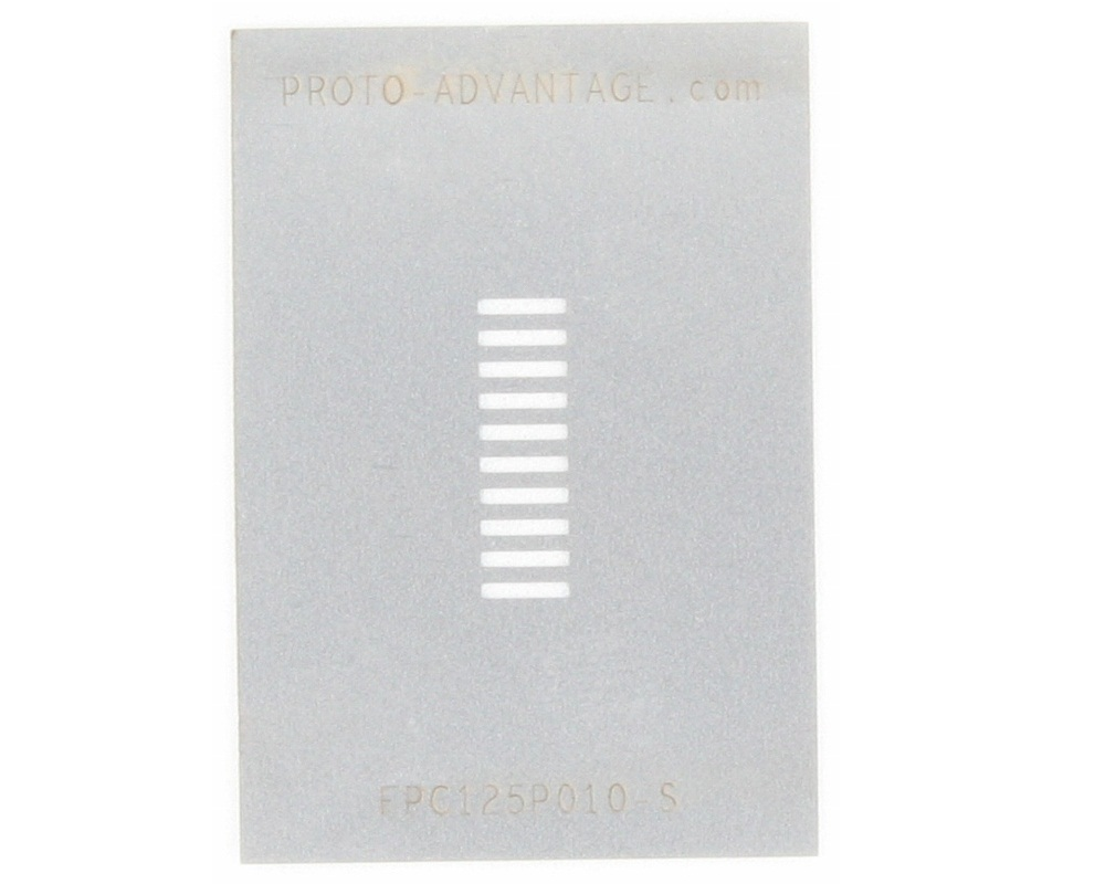 FPC/FFC SMT Connector (1.25 mm pitch, 10 pin or less) Stencil 0
