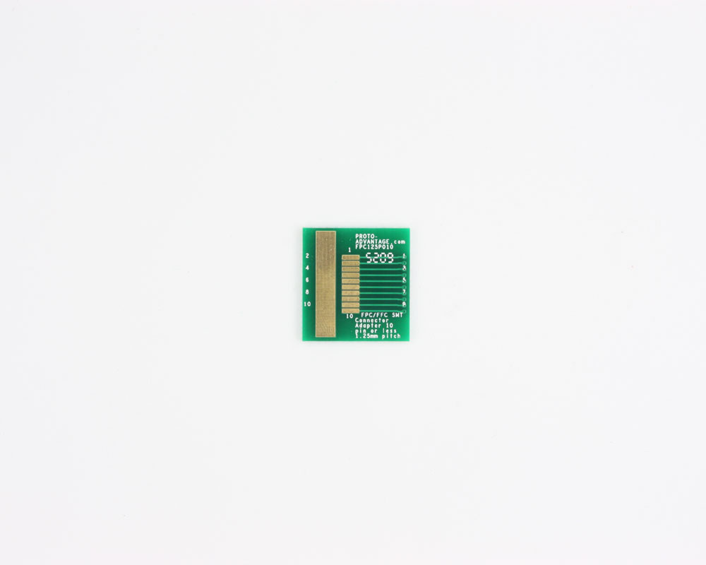 FPC/FFC SMT Connector (1.25 mm pitch, 10 pin or less) DIP Adapt 0