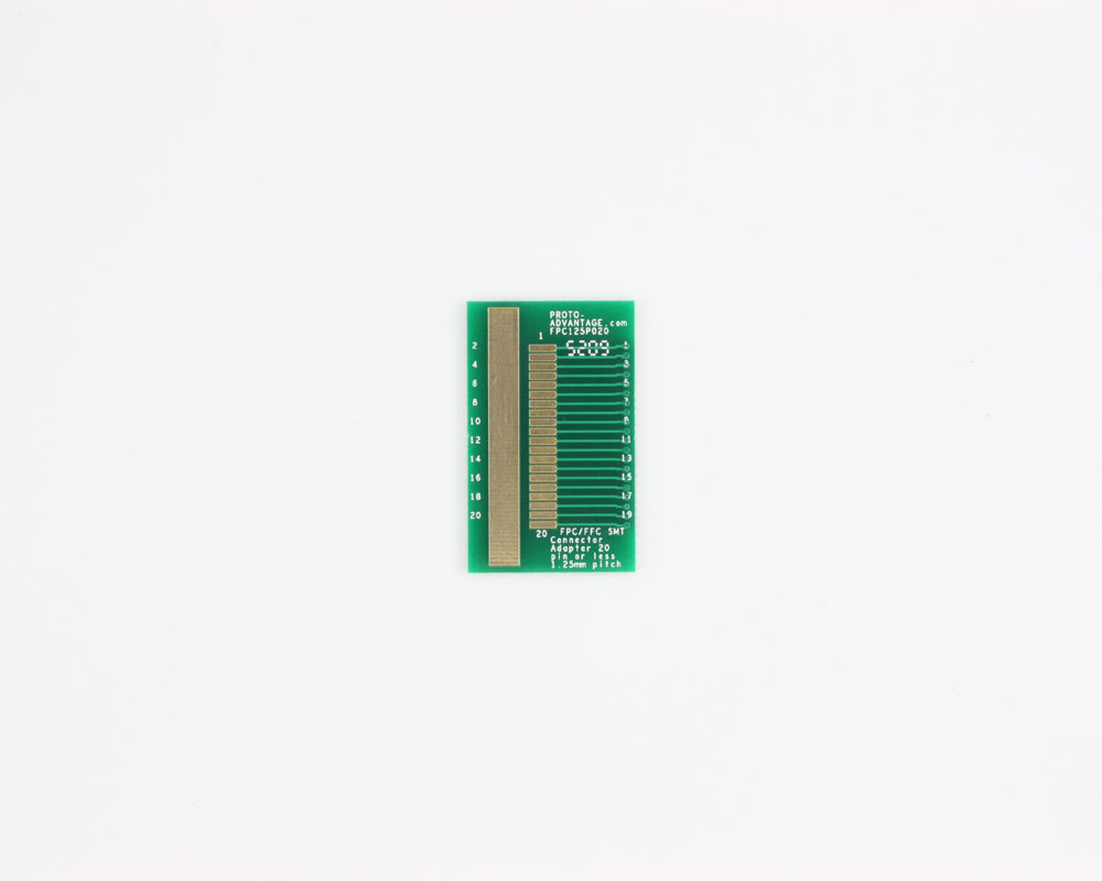 FPC/FFC SMT Connector (1.25 mm pitch, 20 pin or less) DIP Adapt 0