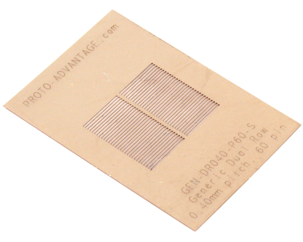 Generic Dual Row 0.4mm Pitch 60-Pin Stencil 0