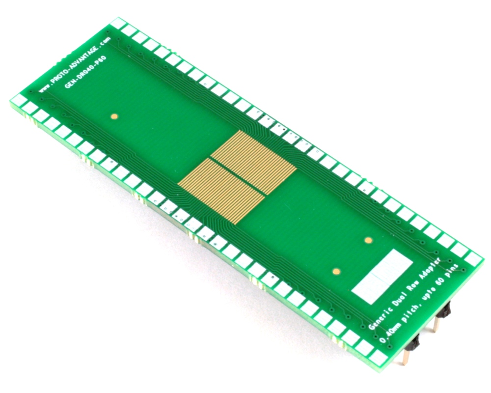 Generic Dual Row 0.40mm Pitch 60-Pin to DIP-60 Adapter 0