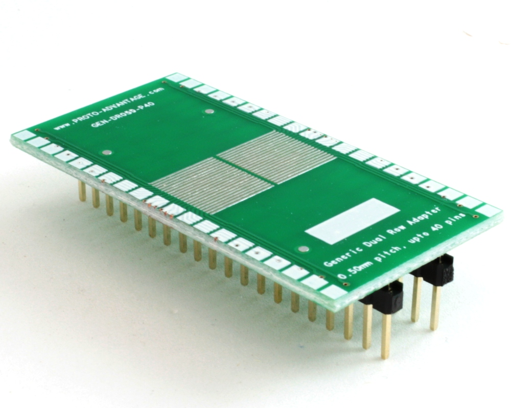 Generic Dual Row 0.50mm Pitch 40-Pin to DIP-40 Adapter 0