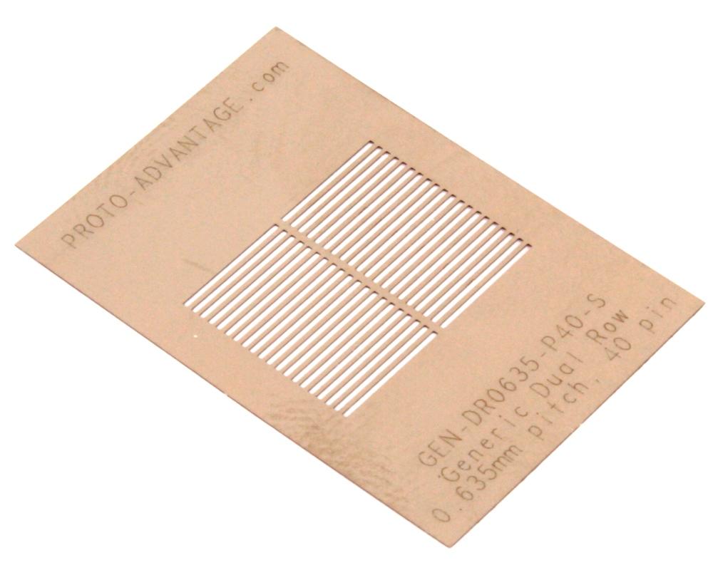 Generic Dual Row 0.635mm Pitch 40-Pin Stencil 0