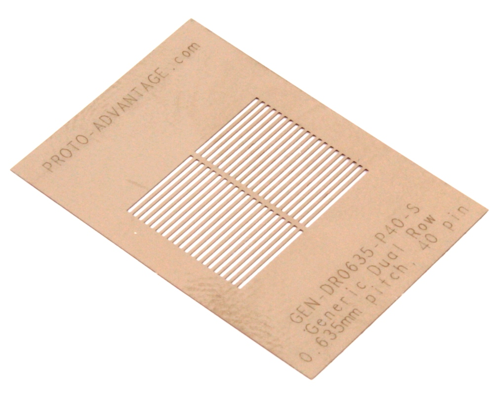Generic Dual Row 0.635mm Pitch 40-Pin Stencil 0