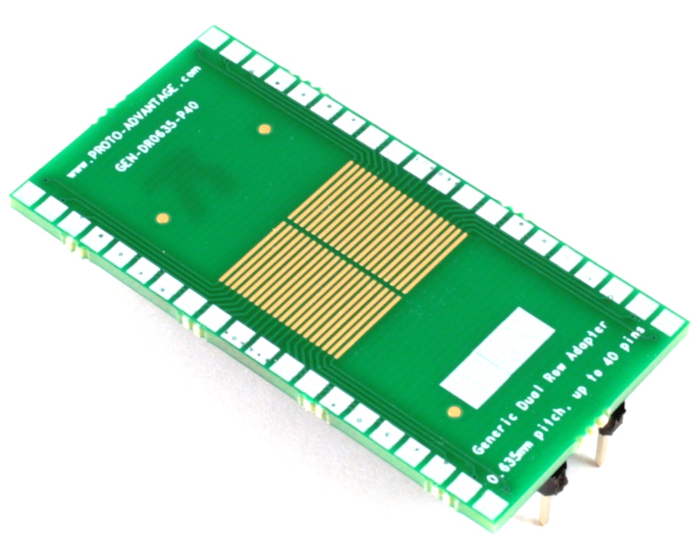 Generic Dual Row 0.635mm Pitch 40-Pin to DIP-40 Adapter 0