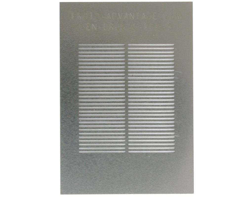 Generic Dual Row 0.635mm Pitch 60-Pin Stencil 0