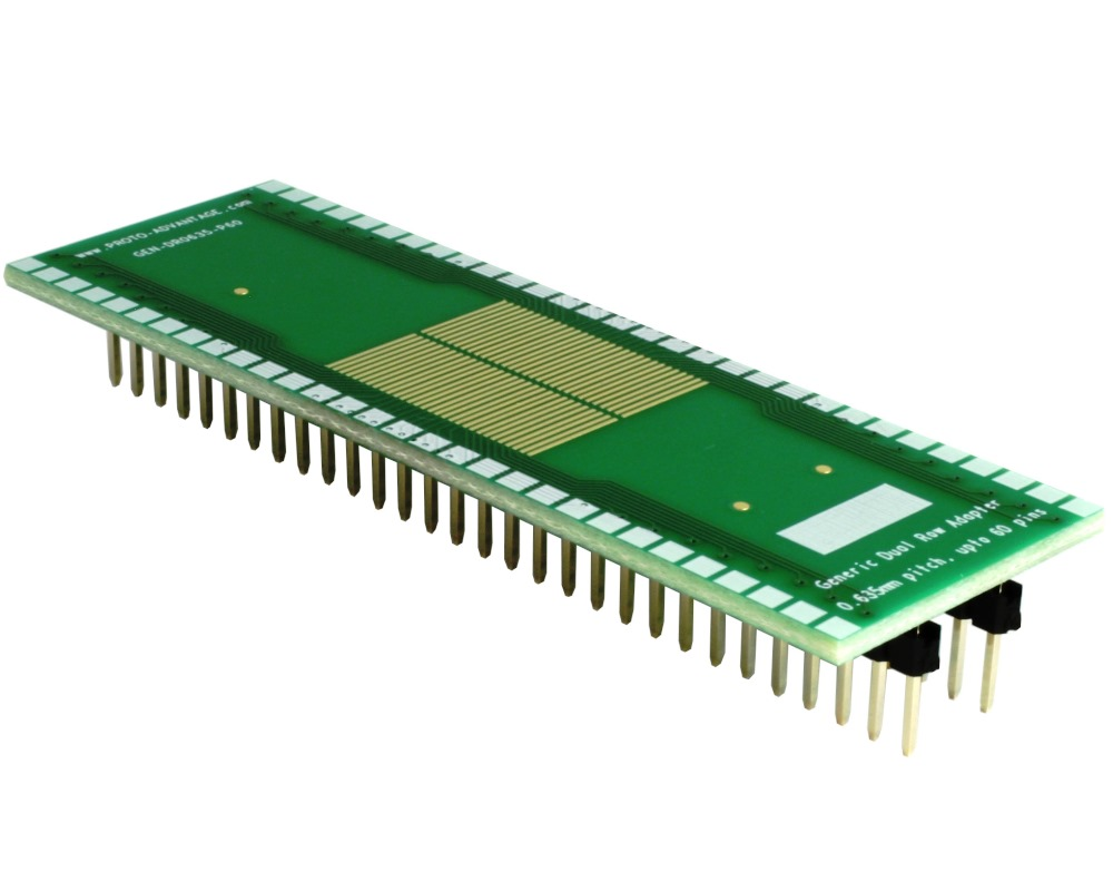Generic Dual Row 0.635mm Pitch 60-Pin to DIP-60 Adapter 0
