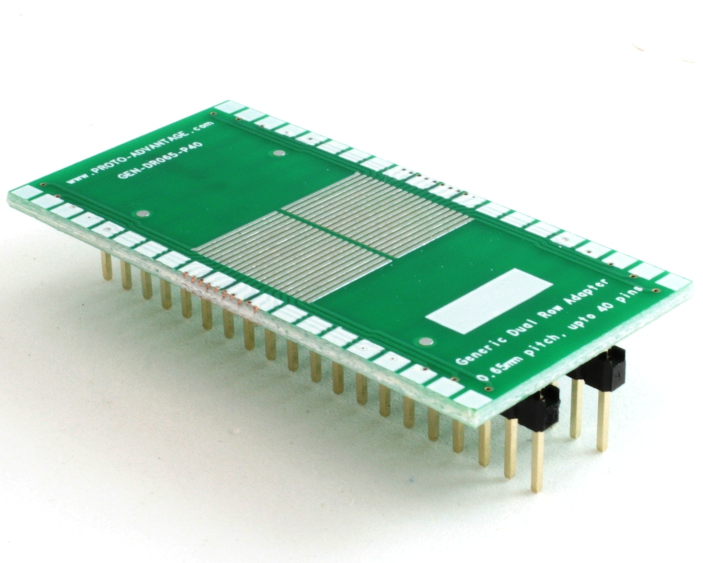 Generic Dual Row 0.65mm Pitch 40-Pin to DIP-40 Adapter 0