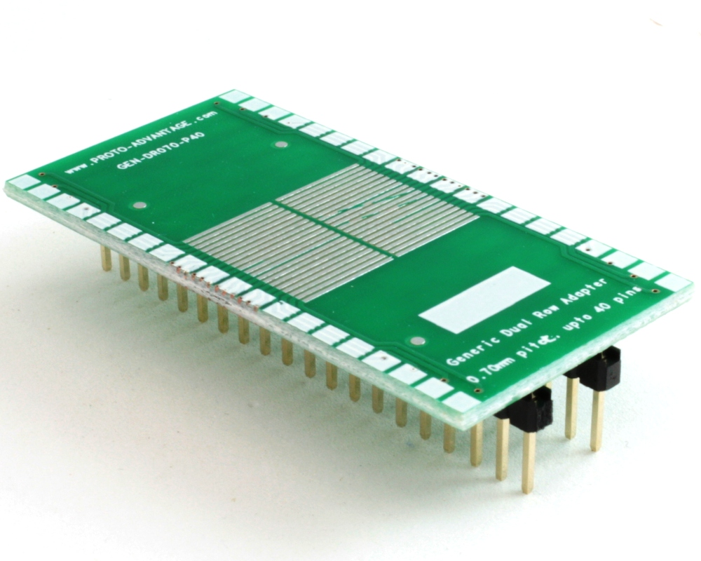 Generic Dual Row 0.70mm Pitch 40-Pin to DIP-40 Adapter 0