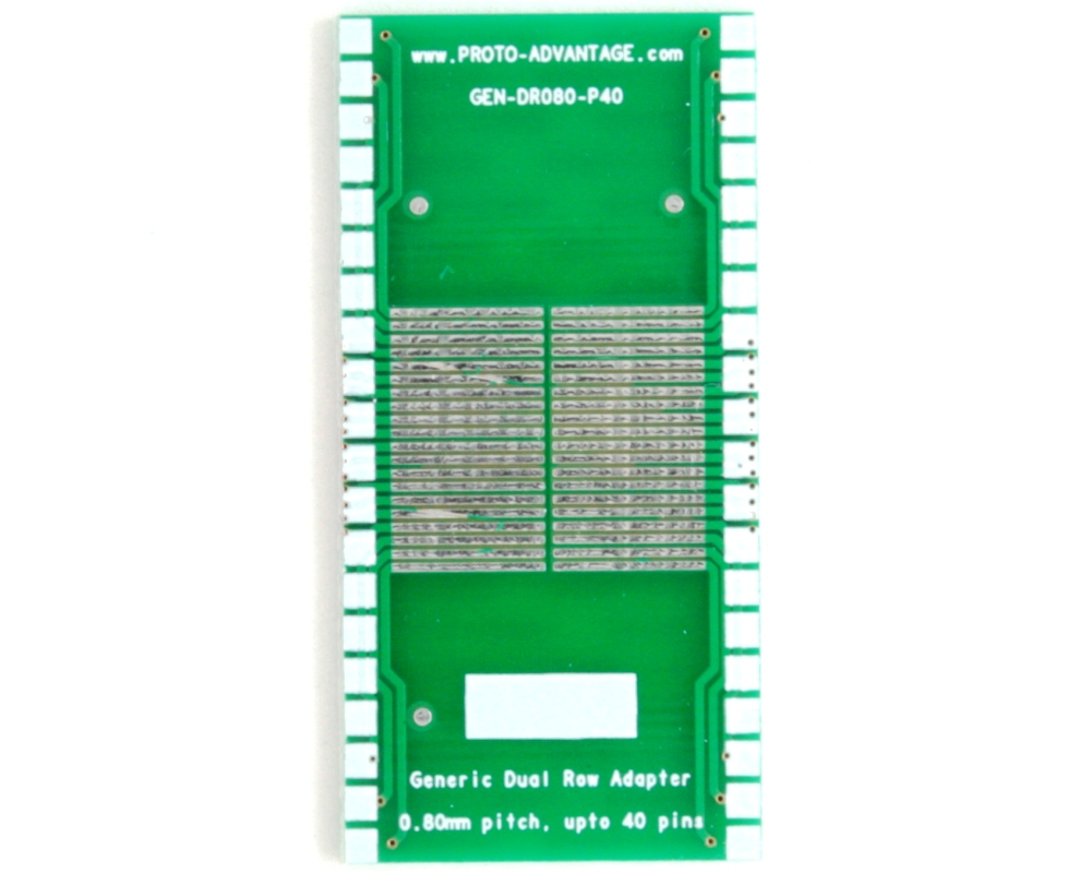 Generic Dual Row 0.80mm Pitch 40-Pin to DIP-40 Adapter 2