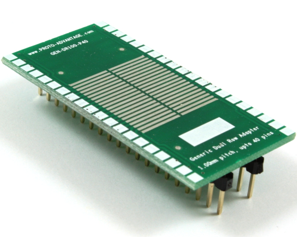 Generic Dual Row 1.00mm Pitch 40-Pin to DIP-40 Adapter 0