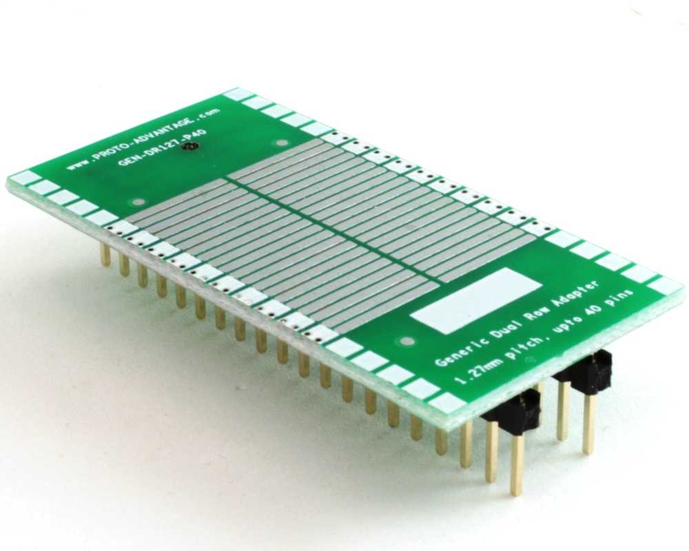 Generic Dual Row 1.27mm Pitch 40-Pin to DIP-40 Adapter 0