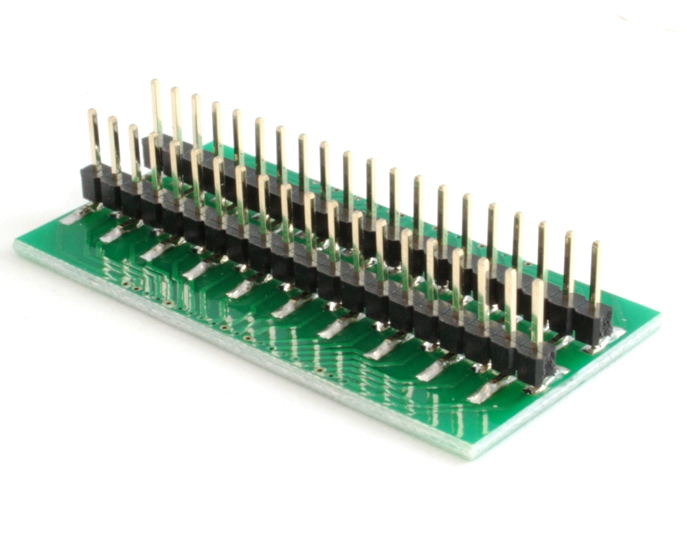 Generic Dual Row 1.27mm Pitch 40-Pin to DIP-40 Adapter 1