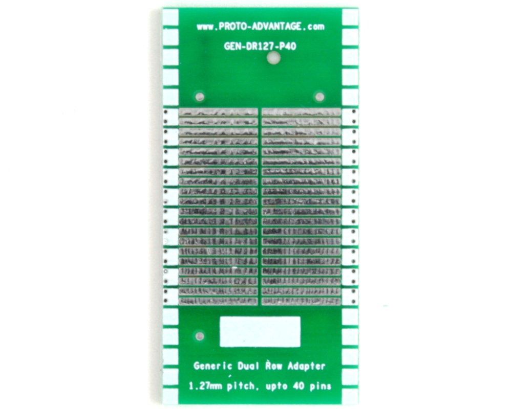 Generic Dual Row 1.27mm Pitch 40-Pin to DIP-40 Adapter 2