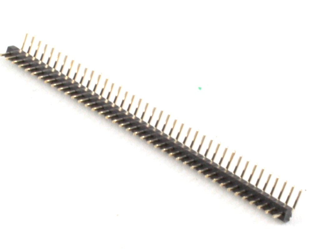 1.00 mm 40 pin Right Angle Male Header Through Hole Gold 0