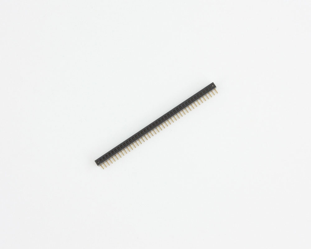 1.27 mm 40 pin Right Angle Female Header Through Hole Gold 2